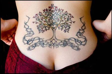 OK, now look at 15 craziest tattoos that I found is a photo of Wendel Swan's plumber, displaying a tree tattoo on