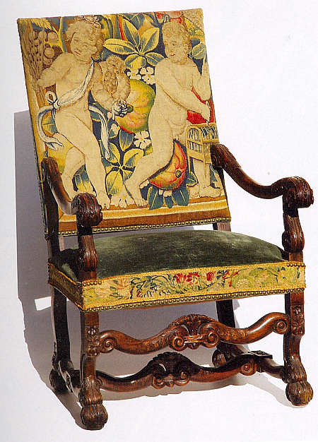 ChairCoveredwithTapestryImage