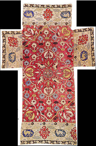 CzarsThroneCoverletfromTwoPersianEmbroideriesBefor1582