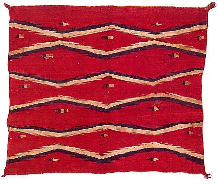 NavajoBlanketSomeRaveled1870