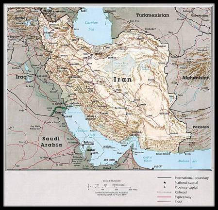 Map of Iran comp