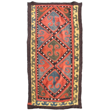"15942, Central Asian Kyrgyz Felt, Kyrgyzstan, c. 1900, 4'8"" x 9'4"""