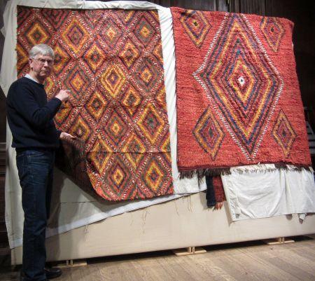John comparing sleeping rugs