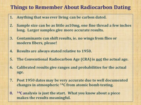 Carbon dating accuracy in Melbourne